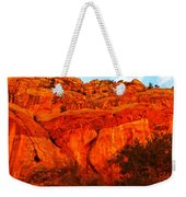 Layers Of Orange Rock Weekender Tote Bag