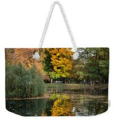 Lazienki Park Autumn Scenery In Warsaw Weekender Tote Bag