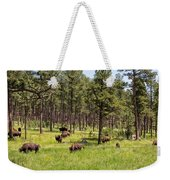 Lazily Grazing Bison Weekender Tote Bag