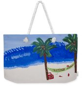 Lazy Beach Weekender Tote Bag by Melissa Dawn