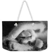 Lazy Day Bw Weekender Tote Bag