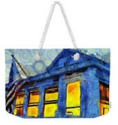 Lazy Daze Beach Cottage On Fourth Of July Weekender Tote Bag by Edward Fielding