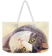 Lazy Kitty Weekender Tote Bag
