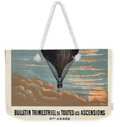 Le Ballon Advertising For French Aeronautical Journal Weekender Tote Bag