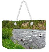 Le Hardy Rapids Of Yellowstone River In Yellowstone River In Yellowstone National Park-wyoming   Weekender Tote Bag
