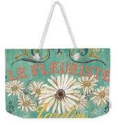Le Marche Aux Fleurs 6 Weekender Tote Bag by Debbie DeWitt