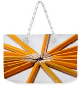 Lead Pencils Isolated On White Weekender Tote Bag