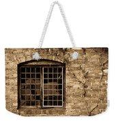 Leaded Glass Window In Sepia Weekender Tote Bag