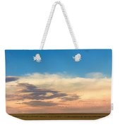 Leading Edge Storm Front And Moon Panorama Weekender Tote Bag