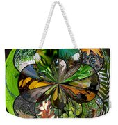 Leaf Collage Orb Weekender Tote Bag