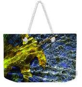 Leaf In Creek - Blue Abstract Weekender Tote Bag
