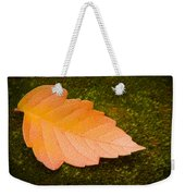 Leaf On Moss Weekender Tote Bag by Adam Romanowicz