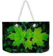 Leaf Overlay Weekender Tote Bag