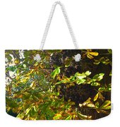 Leafy Tree Bark Image Weekender Tote Bag