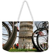 Leaning Bicycles Of Pisa Weekender Tote Bag