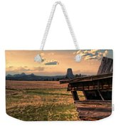 Leaning In To Devil's Tower Weekender Tote Bag