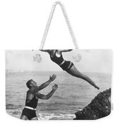 Leap Into Life Guard's Arms Weekender Tote Bag