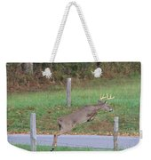 Leaping Buck In Smoky Mountains Weekender Tote Bag