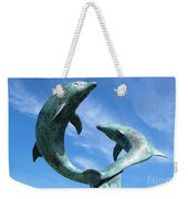 Leaping Dolphins In The Isles Of Scilly Weekender Tote Bag