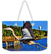 Leaping Egret Weekender Tote Bag