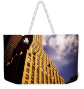 Leaps Tall Buildings With A Single Bound - Skyscraper Weekender Tote Bag