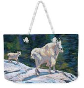 Learning To Walk On The Edge Weekender Tote Bag