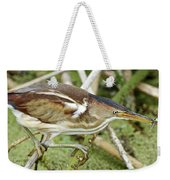 Least Bittern Female Feeding Weekender Tote Bag
