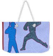 Leather Texture Art Bowler And Pitcher Base Ball Game Sports Competition Weekender Tote Bag
