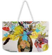 Leaves And Fronds Weekender Tote Bag