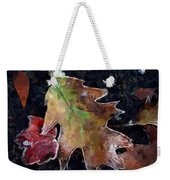 Leaves And Frost Weekender Tote Bag