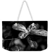 Leaves - Bw Weekender Tote Bag