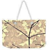 Leaves Fade To Beige Melody Weekender Tote Bag