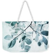 Leaves In Dusty Blue Weekender Tote Bag by Priska Wettstein