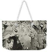 Leaves In Rain Weekender Tote Bag