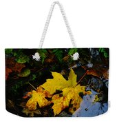 Leaves In Still Shallows Weekender Tote Bag