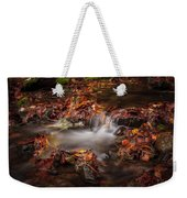 Leaves In The Creek Weekender Tote Bag