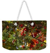 Leaves On Evergreen Weekender Tote Bag