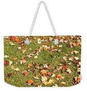 Leaves On Grass Weekender Tote Bag