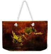 Leaves On Texture Weekender Tote Bag