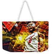 Lebron James Art Poster Weekender Tote Bag by Florian Rodarte