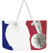 Lebron Nba Logo Weekender Tote Bag by Tamir Barkan