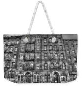 Led Zeppelin Physical Graffiti Building In Black And White Weekender Tote Bag