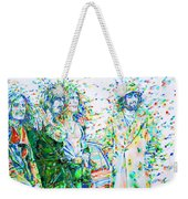 Led Zeppelin - Watercolor Portrait.2 Weekender Tote Bag