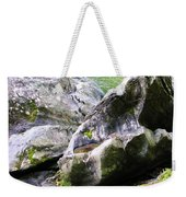 Ledge Worn Smooth By Centuries Of Water And Ice Weekender Tote Bag