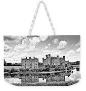 Leeds Castle Black And White Weekender Tote Bag
