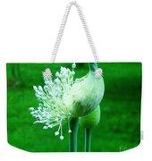 Leek Flower Weekender Tote Bag