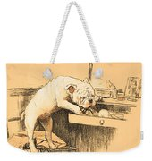 Left Alone In Her Dressing Room Weekender Tote Bag by Cecil Charles Windsor Aldin