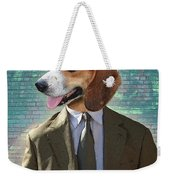 Legal Beagle Weekender Tote Bag by Nikki Smith