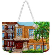 Legare And Hutchison Synagogue Montreal Weekender Tote Bag