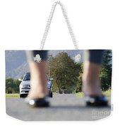 Legs And Car Weekender Tote Bag
